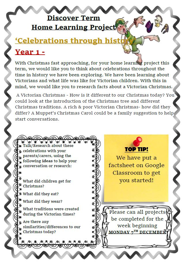 Y1 Home learning 1(1)